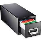 STEELMASTER - Card filing cabinet - steel - rubberized black