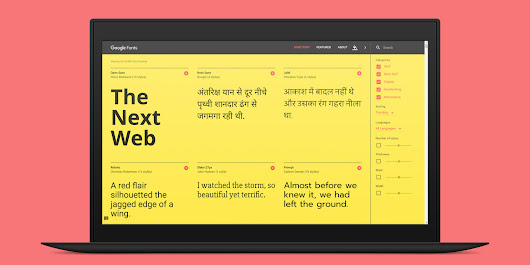 Typography nerds will love the revamped Google Fonts site