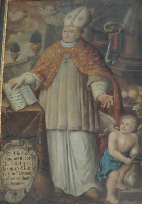 Gemälde, um 1700, wohl aus dem Betsaal für Albertus Magnus, heute in der Lauinger Martinskirche