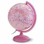 Waypoint Safari Explorer Animals Globe, 10-inch , Illustrated, Illuminated, Pink
