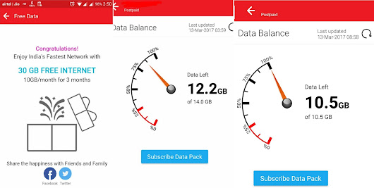 Airtel offering free data (10GB per month for 3 months) to postpaid customers - Gizmo Times