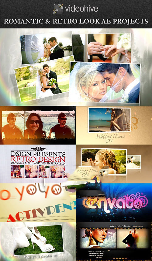 VideoHive - Romantic & Retro Look After Effect Projects - 793 MB
