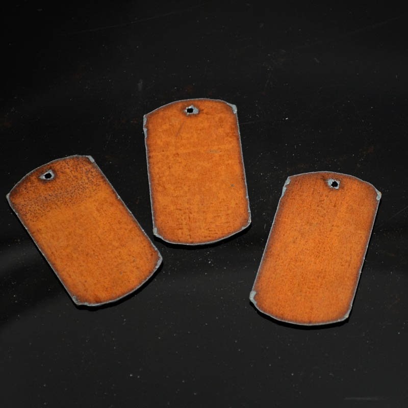 s38297 Stamped Metal Components -  Dog Tag - Rusted Iron (1)