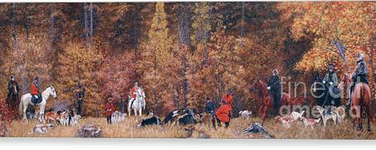 Russian Hunting Canvas Print