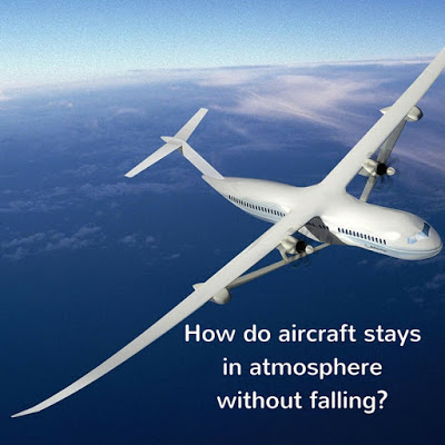 How aircraft stays in the atmosphere without falling down?