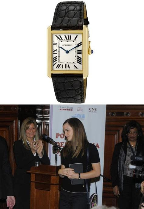 Emma wore a Cartier Women?s Tank Solo Watch to the
