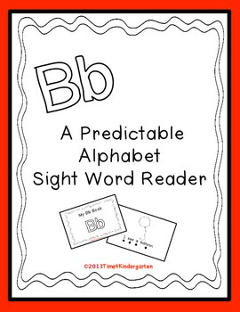 Letter B book, sight word readers
