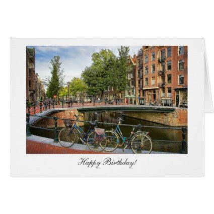 Canal Crossing - Happy Birthday Greeting Card
