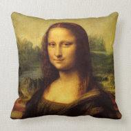 Mona Lisa throwpillow