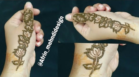 Latest Flower Mehndi Design : Afrin mehndi design google