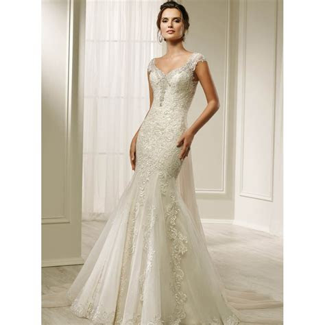 contemporary wedding dress ronald joyce frieze wedding