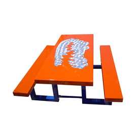 Shop Ofab Florida Gators Cast Aluminum Rectangle Picnic Table with