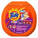 Tide 509783 Pods 3-in-1 Laundry Detergent Original, Spring Meadow Scent, 72 Ct.