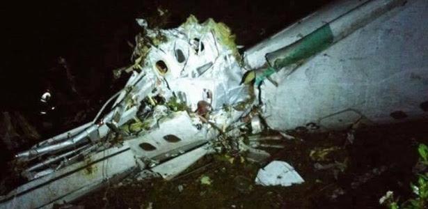 Resultado de imagem para cai avião da chapecoense