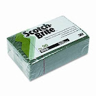 3M Scotch-Brite Commercial Scouring Pad, Green - 10 pack