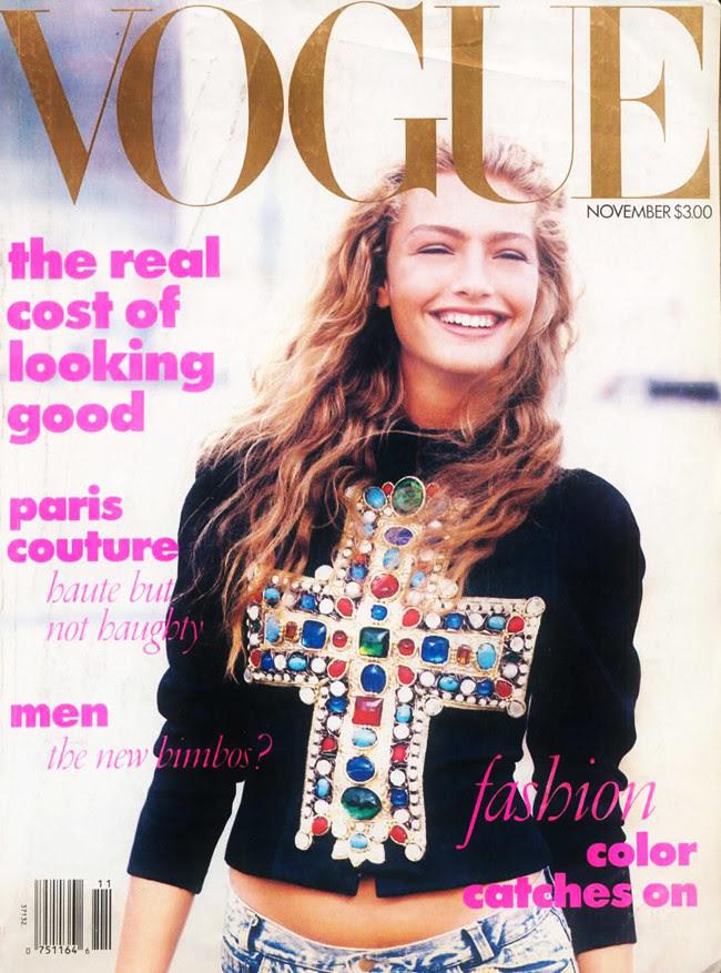Vogue Magazine, Michaela Bercu 1988 Cover, Fashion
