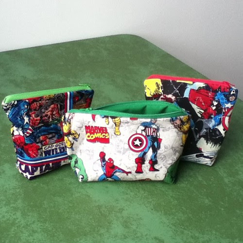 Large pouches! #geek #craft #marvel