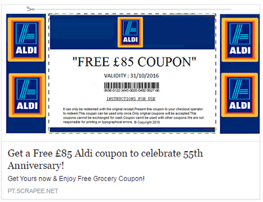 Shoppers urged to steer clear of fake £85 Aldi vouchers flooding Facebook