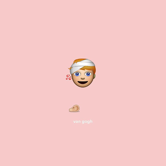 fine art emojis turn famous creatives into virtual visionaries