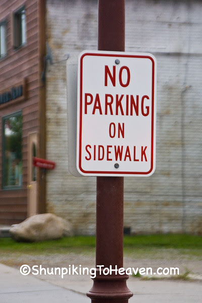 No Parking on Sidewalk, St. Louis County, Minnesota