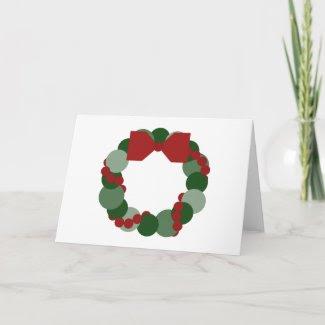 Geometric Christmas Wreath Greeting Card