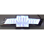 Race Sport RS-3DLED-CHEV-W 3D LED Logo Badge (Chevy-White)
