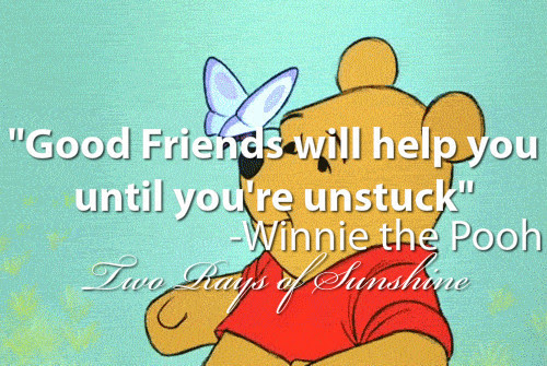 ... friends friendship relatable cute winnie the pooh disney life quote