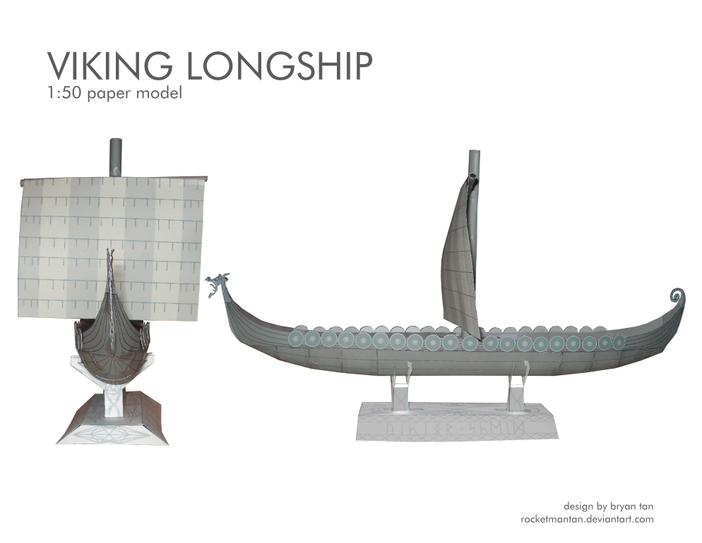 Viking Longship Paper Model