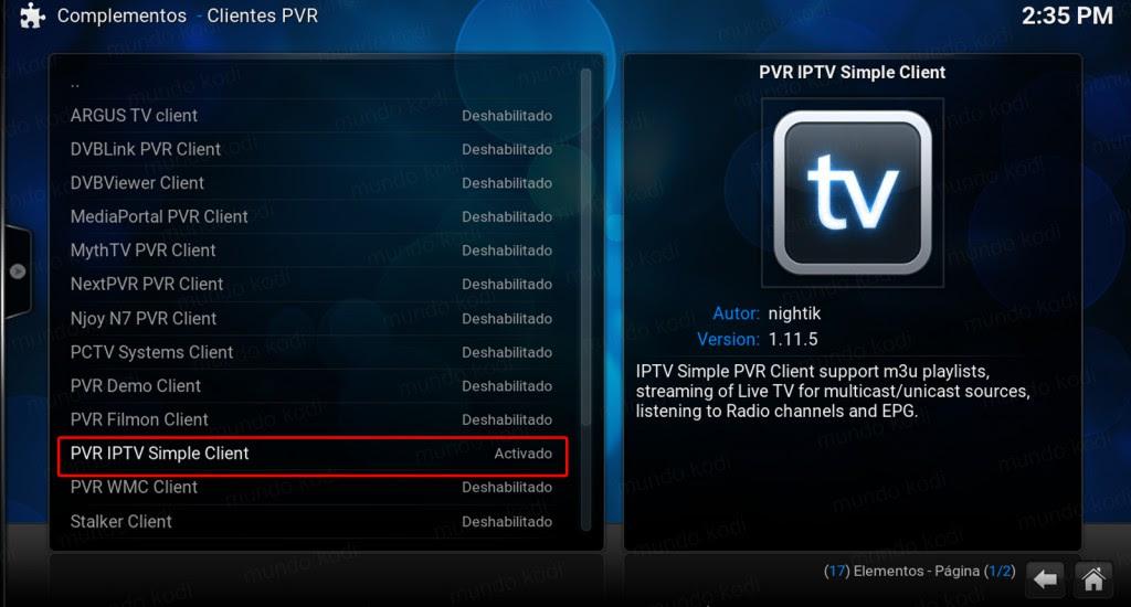 Lista PVR TecnoTV. PVR IPTV Simple Client