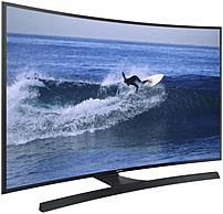 Samsung UN55JU6700 55-inch Curved LED Smart 4K Ultra HDTV - 3840 x 2160 Pixels - Clear Motion Rate 120 - Wi-Fi, Ethernet - HDMI, Composite, Component