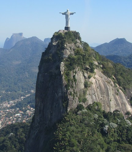 Cristo Redentor Rio de Janeiro from the helicopter