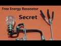 Secret of Free Energy Resonator