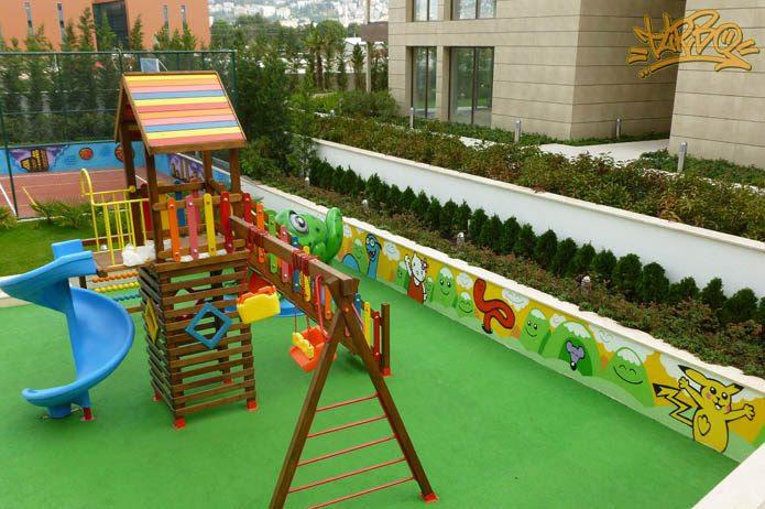 çocuk Parkı Duvar Boyama Tunç Dindaş