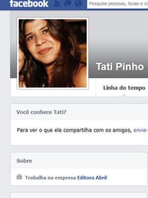 Página de Tatiana no Facebook (Foto: Reprodução Facebook)