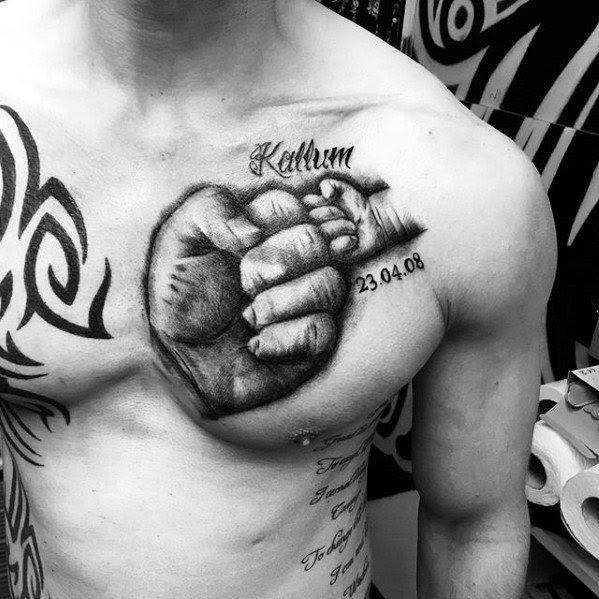 50 Kids Name Tattoos For Men Cool Children Design Ideas