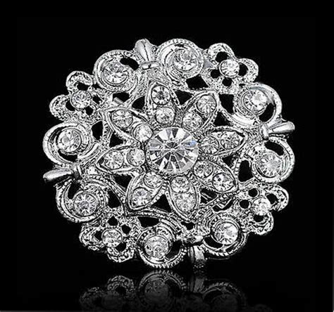 Flowers Wedding Bouquet DIY Silver Rhinestone Crystal