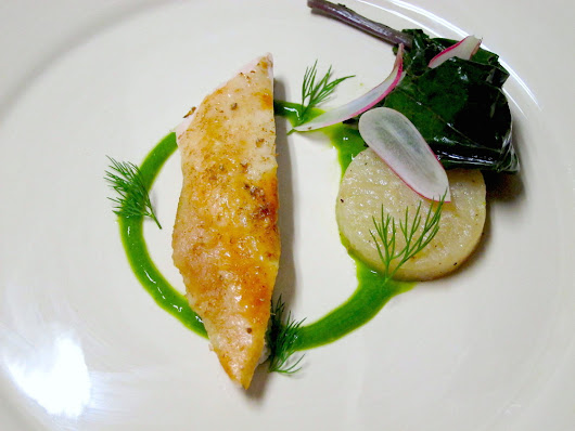 Roasted Chicken with En-Papillote Kohlrabi, Radish, and Dill Whey