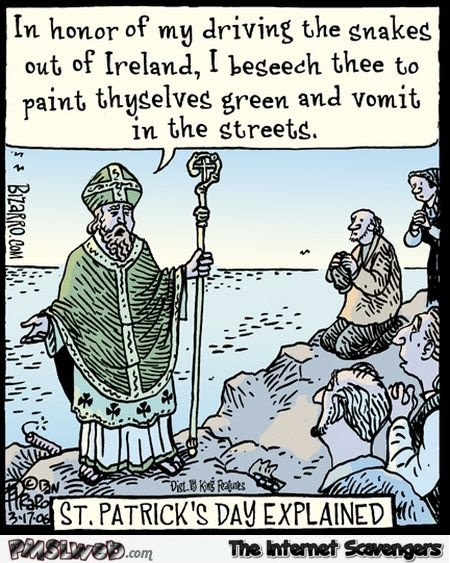 St Patricks Day Explained Funny Cartoon Pmslweb