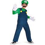 Super Mario Bros. - Luigi Deluxe Toddler / Child Costume - 3558 - Green/Blue - Small (4/6)