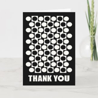 Circles In Squares Pattern Thank You Card 2 card