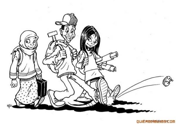 Grupo De Amigos Dibujos Para Colorear Colorear Imágenes