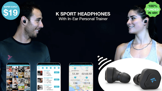 K Sport Headphones With In-Ear Personal Trainer