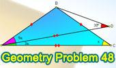 Problema de Geometría 48: Triangulo, Ángulos, Congruencia.
