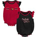 Louisville Cardinals Creeper 2 Pack Homecoming Bodysuit Set