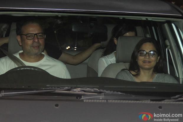 Atul Agnihotri along with Alvira khan spotted at Salman Khan's House