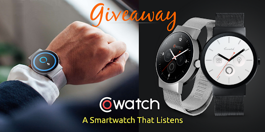 Smartwatch Giveaway. $299 Value. Ends Oct. 9
