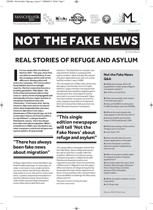 Not the fake news : real stories of refuge and asylum