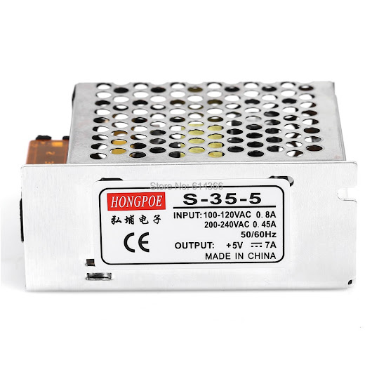 5 PCS 5V 7A 35W Switching Power Supply Driver for LED Strip AC 100-240V Input to DC 5V