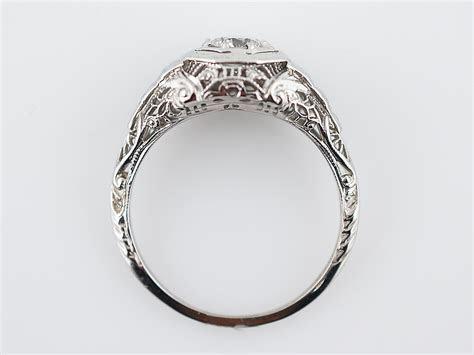 Antique Engagement Ring Art Deco .49 Round Brilliant Cut