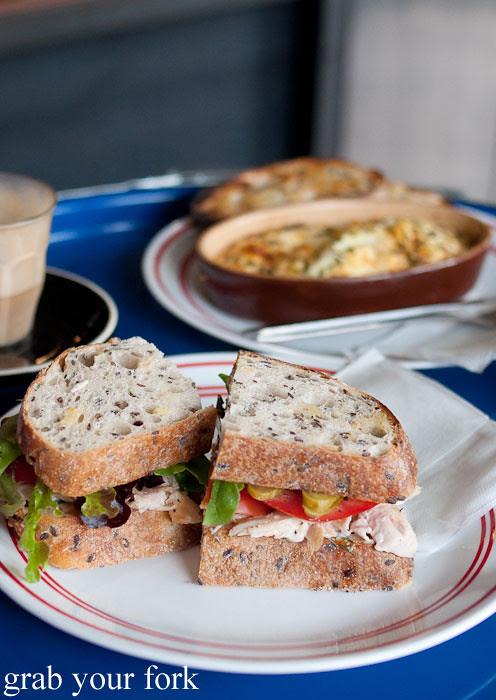 roast chicken sandwich at the town bike pitstop redfern darlington